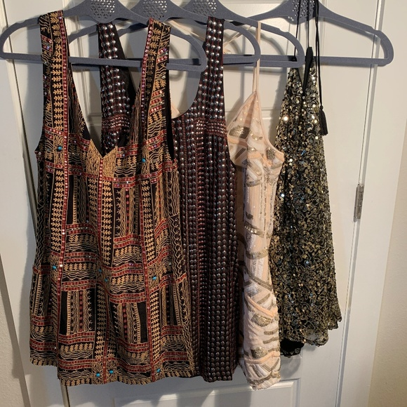 Free People Dresses & Skirts - FOUR SPARKLY SEXY SWING DRESSES